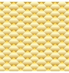 Golden rhombus seamless pattern vector image