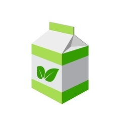 green package isolated vector image vector image