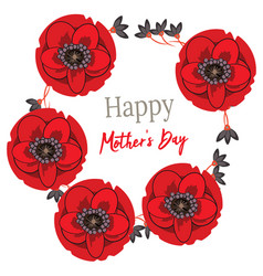 greeting card happy mother s day with wild flowers vector image