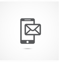 mobile phone sms icon vector image