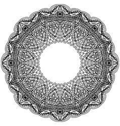 Monochrome frame mandala Design black element in vector image