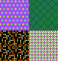 Seamless patterns Set 2 Abstract colorful vector image