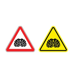 Warning sign of attention to think Hazard yellow vector image vector image
