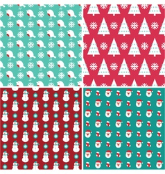 christmas patterns vector image vector image