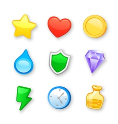 Game art design icons set vector image