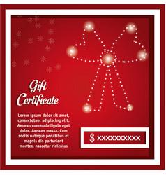 gift certificate design vector image