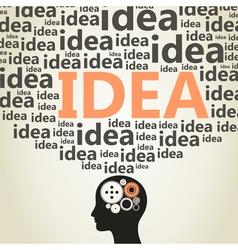 Head idea vector image vector image