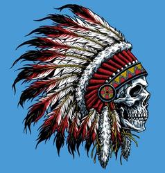 Indian skull vector
