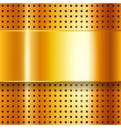 Scratched on gold chrome background vector image