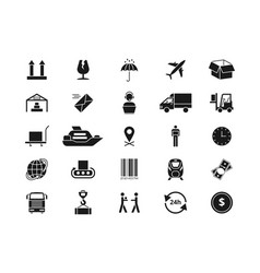 shipping delivery and logistics icons vector image vector image