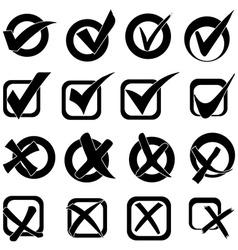 Tick cross icons set vector image vector image