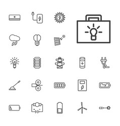 22 electricity icons vector