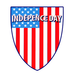 4th july shield american flag independence day vector image