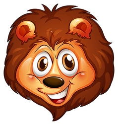 A head of a smiling lion vector image