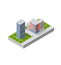 a modern city vector image