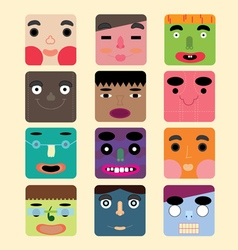 Abstract Cartoon Face vector