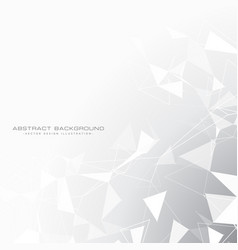 abstract gray background with triangles in white vector image