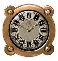 Ancient clock ector vector