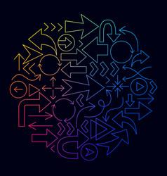 arrow line icon circle concept vector image