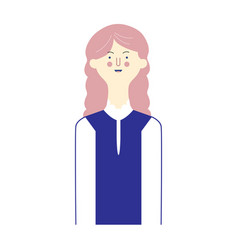 avatars character people set flat female male vector image
