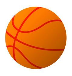 basketball ball simple eps10 vector image