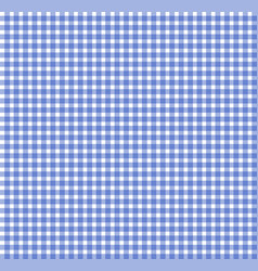 blue chequered tablecloth texture repeatable vector image