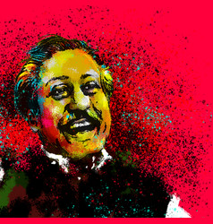 Bongobondhu sheikh mujib digital art vector