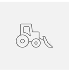 Bulldozer line icon vector image