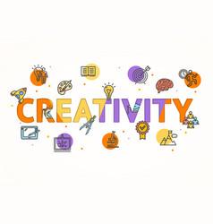 Cartoon creativity concept card poster vector