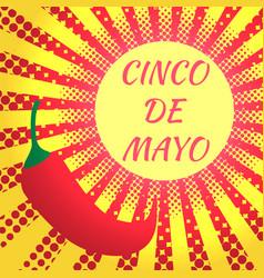 cinco de mayo pop art style vector image