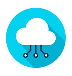 cloud computing connection circle icon vector image