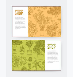collection horizontal banner or flyer templates vector image