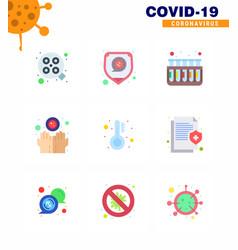 Coronavirus precaution tips icon for healthcare vector