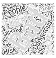Dangerous Bad Habits Word Cloud Concept vector