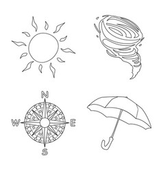 Design of weather and climate logo set of vector