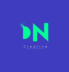 Dn letter logo design with negative space concept vector