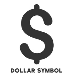 Dollar Symbol Icon With Caption vector