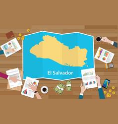 El salvador economy country growth nation team vector