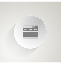 Flat icon for dishwasher vector image