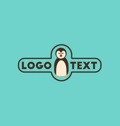 Flat icon on background penguin logo vector