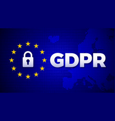 gdpr general data protection regulation data vector image