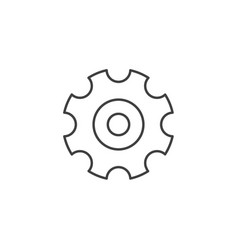 gear related line icon vector image