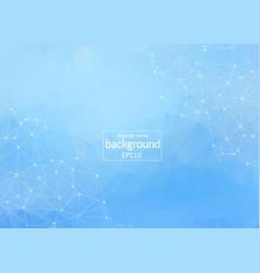 geometric light blue polygonal background vector image