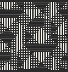 geometric seamless pattern with stripes squares vector image