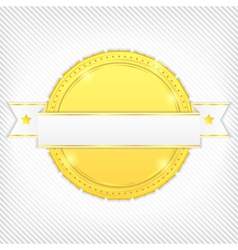 golden banner vector image