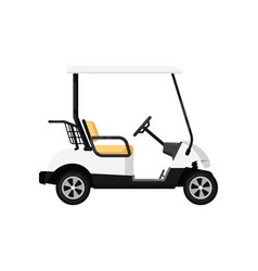 Golf car isolated icon in flat design vector