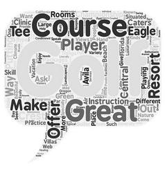 Golfresort text background wordcloud concept vector
