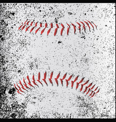 Grunge baseball stitches vector
