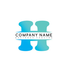 H exclusive brand company template logo logotype vector
