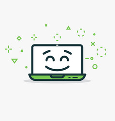 Happy computer vector